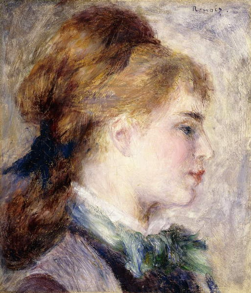Detail of Portrait of Nina Lopez, 1876 by Pierre Auguste Renoir