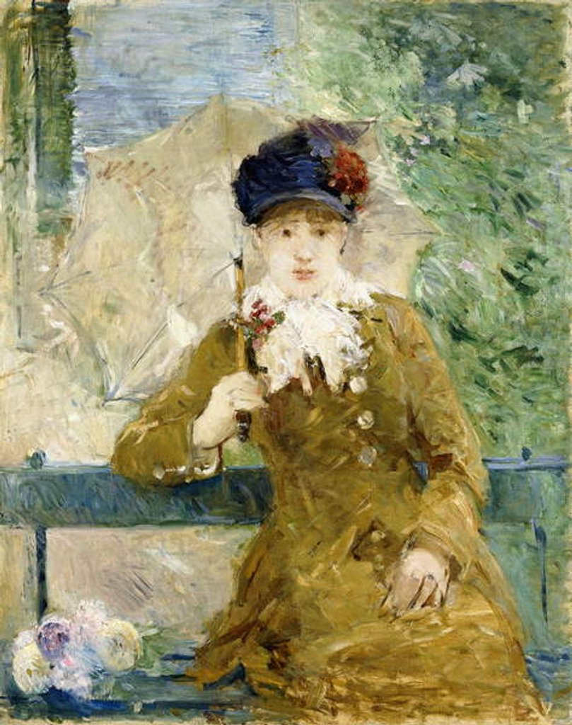 Detail of Woman with an Umbrella, 1881 by Berthe Morisot