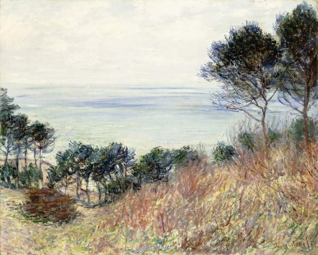 Detail of The Coast of Varengeville, 1882 by Claude Monet