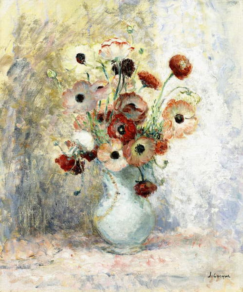 Detail of Bouquet of Anemones by Henri Lebasque
