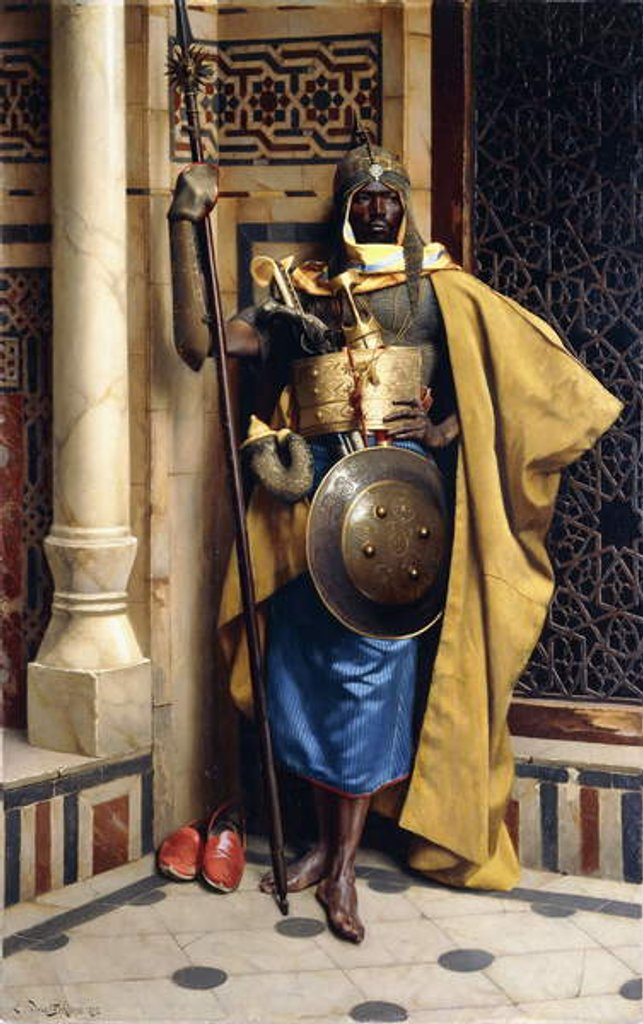 Detail of The Palace Guard, 1892 by Ludwig Deutsch