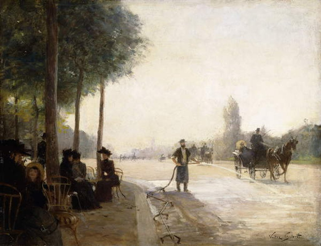 Detail of The Champs Elysees, Paris by Victor Gabriel Gilbert