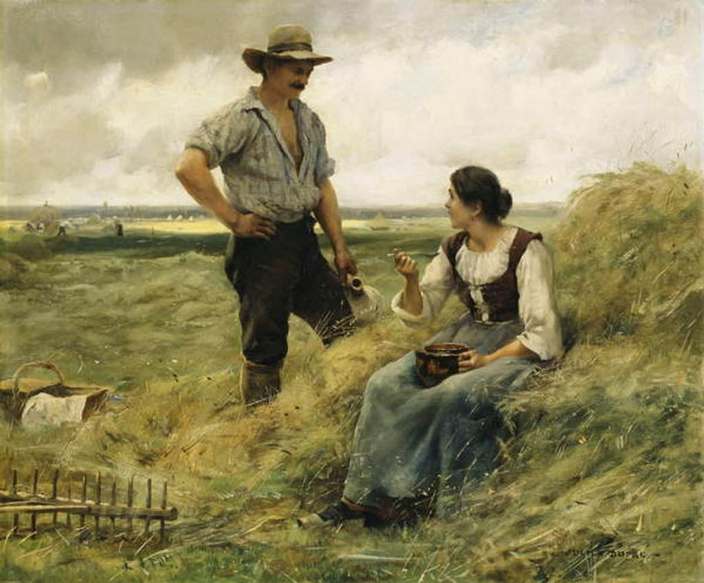 Detail of A Break from the Harvest by Julien Dupre