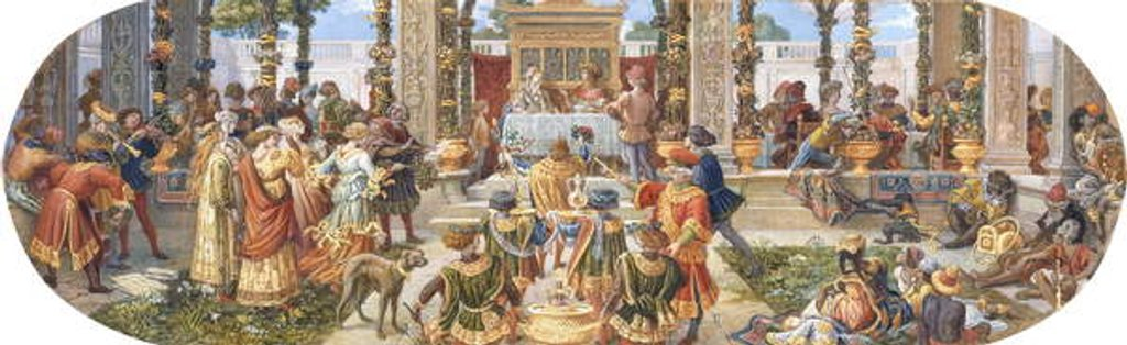 Detail of A Florentine Festival: The Banquet by Ricciardo Meacci
