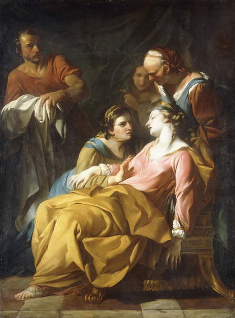 Detail of Phaedra receiving the News of Hippolytus's Death by Noel Halle