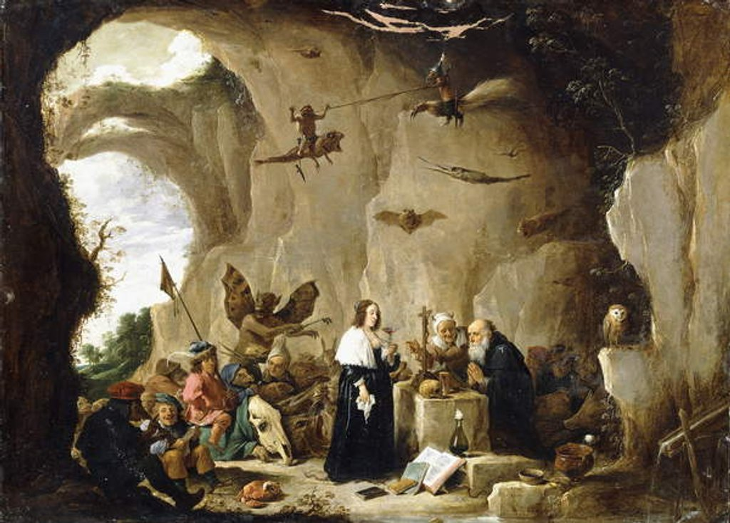 Detail of The Temptation of Saint Anthony by David the Younger Teniers
