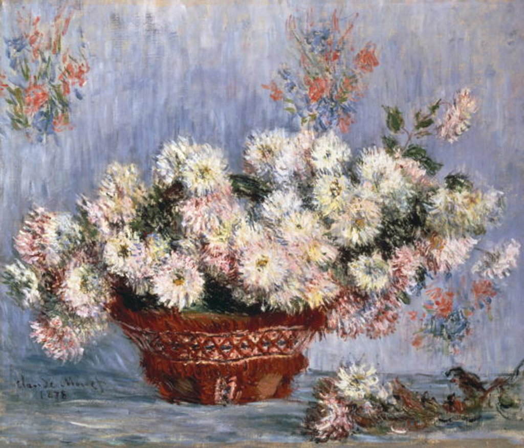 Detail of Chrysanthemums, 1878 by Claude Monet