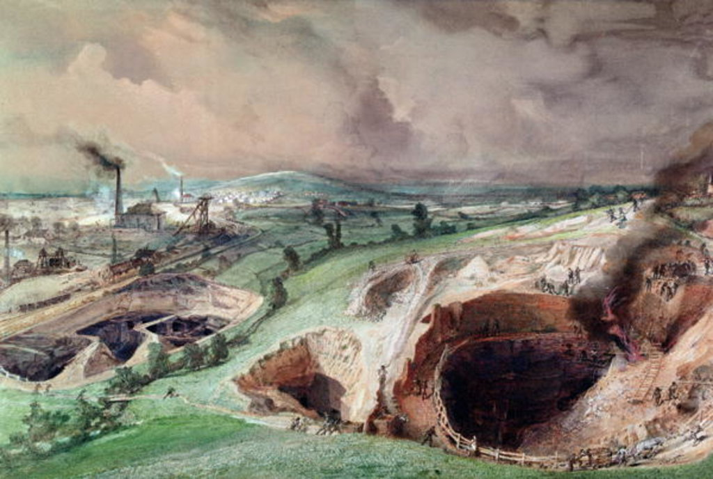 Detail of Open-cast Mines at Blanzy, Saone-et-Loire, 1857 by Ignace Francois Bonhomme