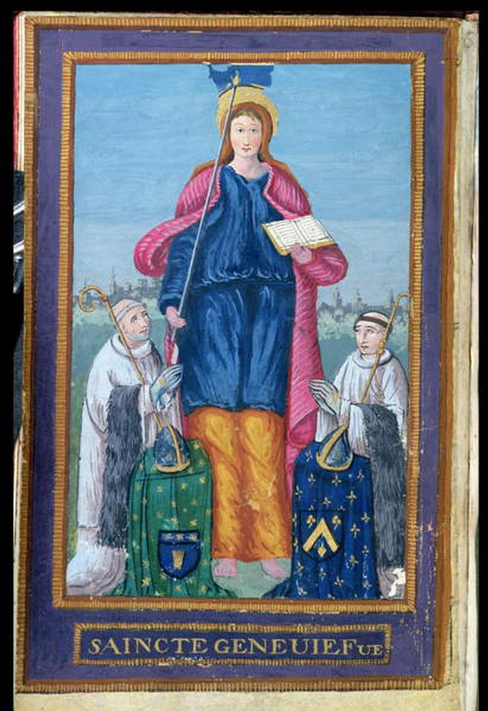 Detail of Ms 1847 Depiction of St. Genevieve by French School