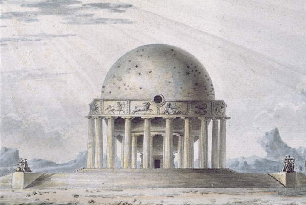 Detail of Design for a House for a Cosmopolite, 1783 by Antoine Laurent Thomas Vaudoyer