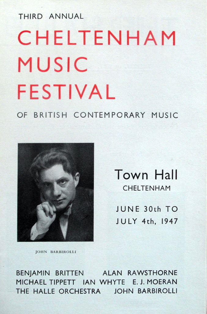 Detail of 1947 Cheltenham Music Festival Programme Cover by Cheltenham Festivals