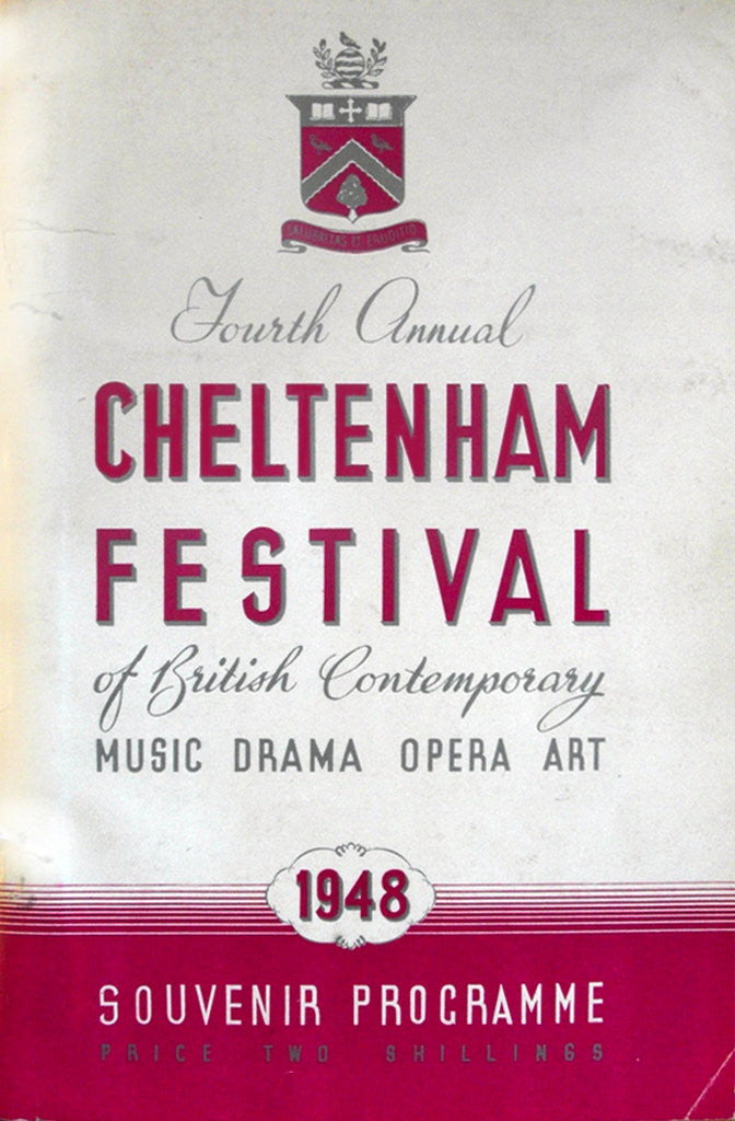 Detail of 1948 Cheltenham Music Festival Programme Cover by Cheltenham Festivals