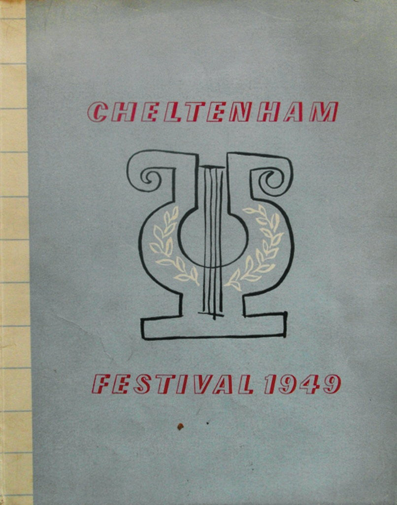 Detail of 1949 Cheltenham Music Festival Programme Cover by Cheltenham Festivals