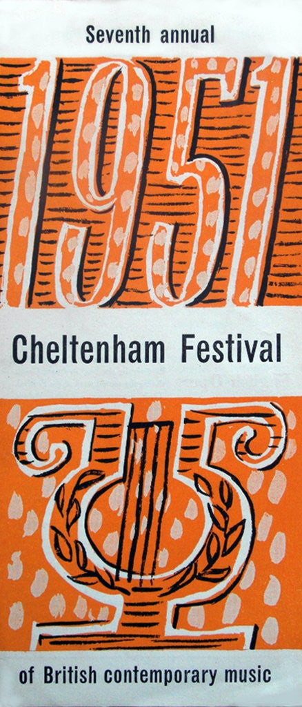 Detail of 1951 Cheltenham Music Festival Programme Cover by Cheltenham Festivals
