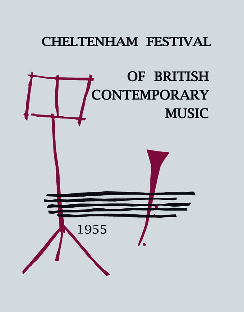 Detail of 1955 Cheltenham Music Festival Programme Cover by Cheltenham Festivals