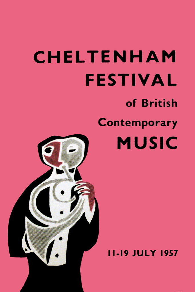 Detail of 1957 Cheltenham Music Festival Programme Cover by Cheltenham Festivals