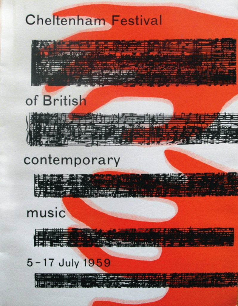 Detail of 1959 Cheltenham Music Festival Programme Cover by Cheltenham Festivals