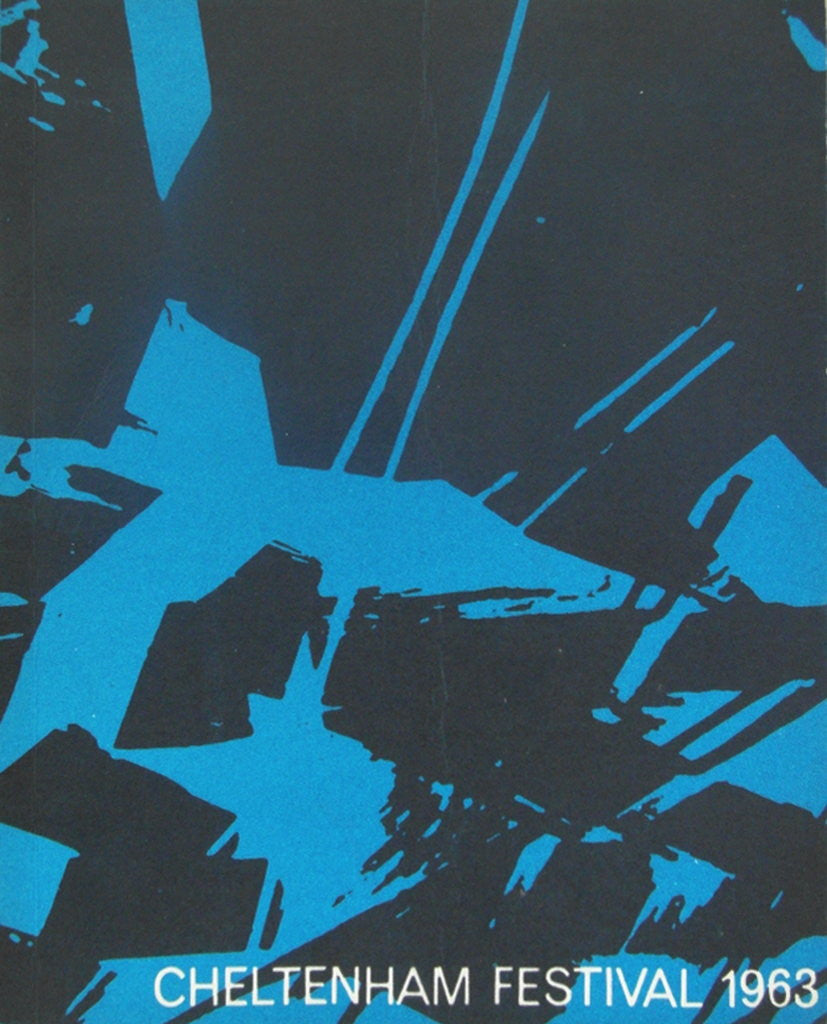 Detail of 1963 Cheltenham Music Festival Programme Cover by Cheltenham Festivals