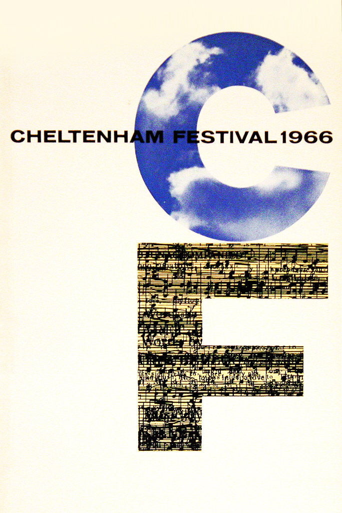 Detail of 1966 Cheltenham Music Festival Programme Cover by Cheltenham Festivals