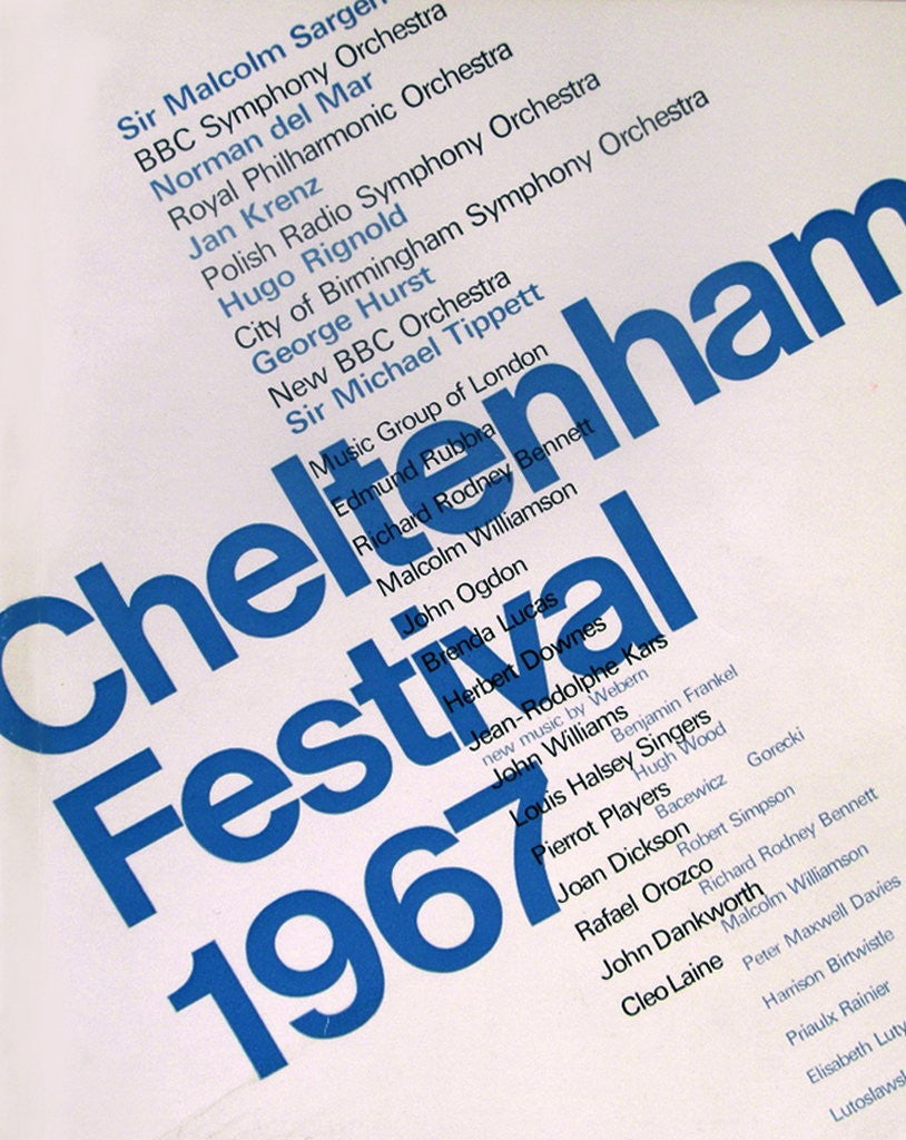Detail of 1967 Cheltenham Music Festival Programme Cover by Cheltenham Festivals