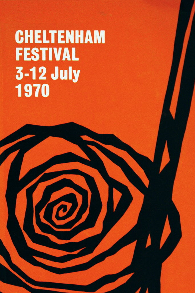 Detail of 1970 Cheltenham Music Festival Programme Cover by Cheltenham Festivals
