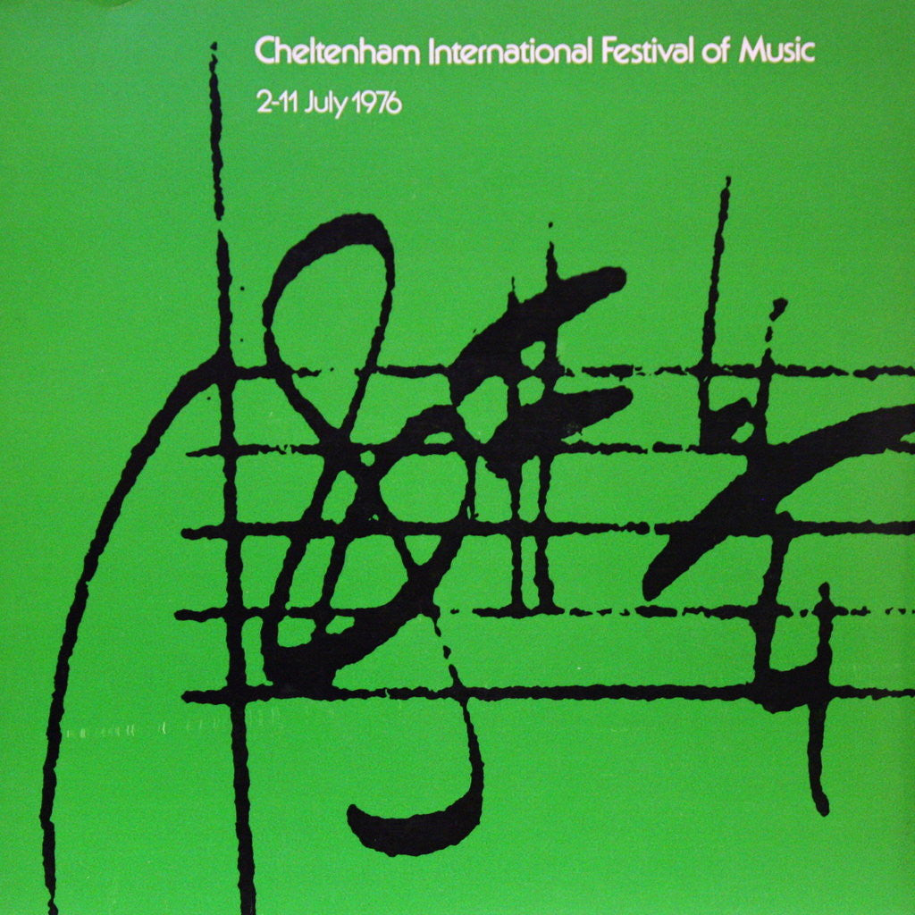 Detail of 1976 Cheltenham Music Festival Programme Cover by Cheltenham Festivals