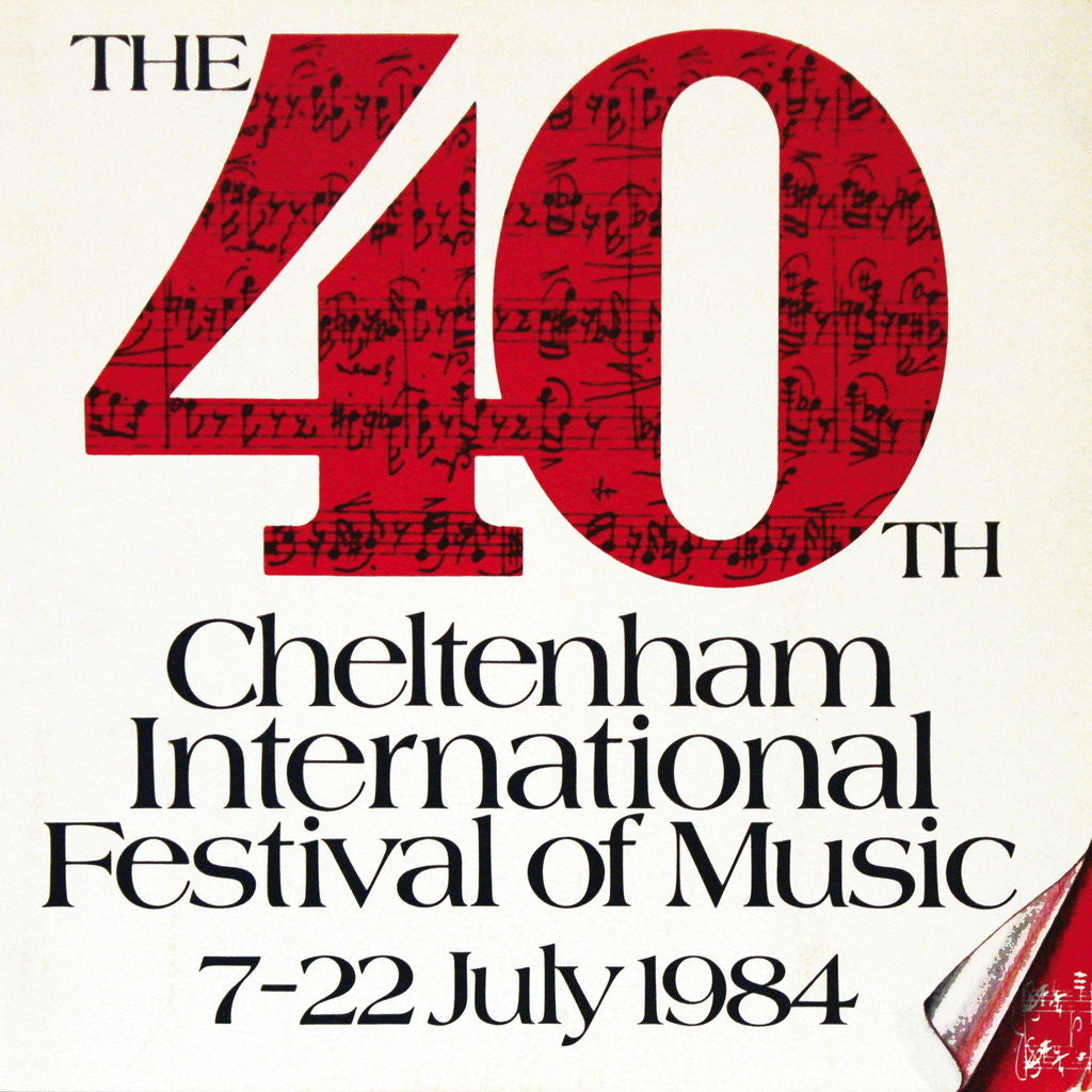 Detail of 1984 Cheltenham Music Festival Programme Cover by Cheltenham Festivals