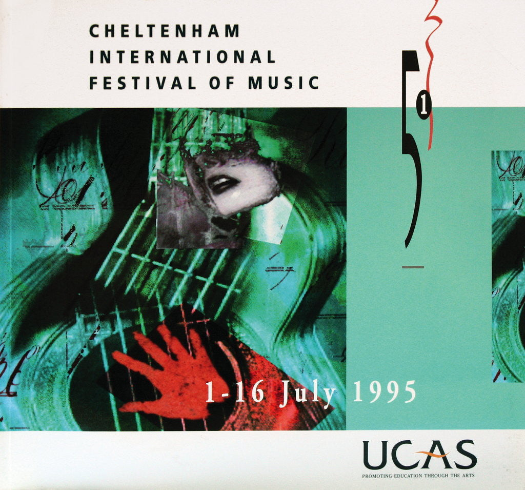 Detail of 1995 Cheltenham Music Festival Programme Cover by Cheltenham Festivals