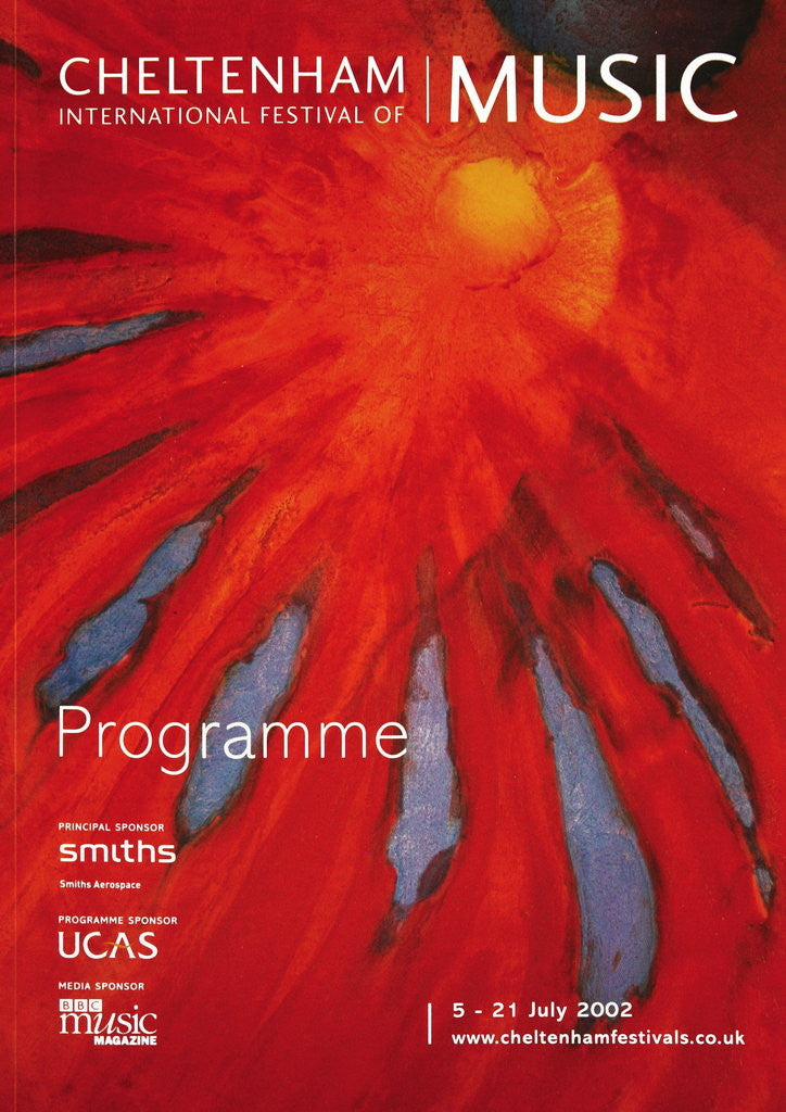 Detail of 2002 Cheltenham Music Festival Programme Cover by Cheltenham Festivals