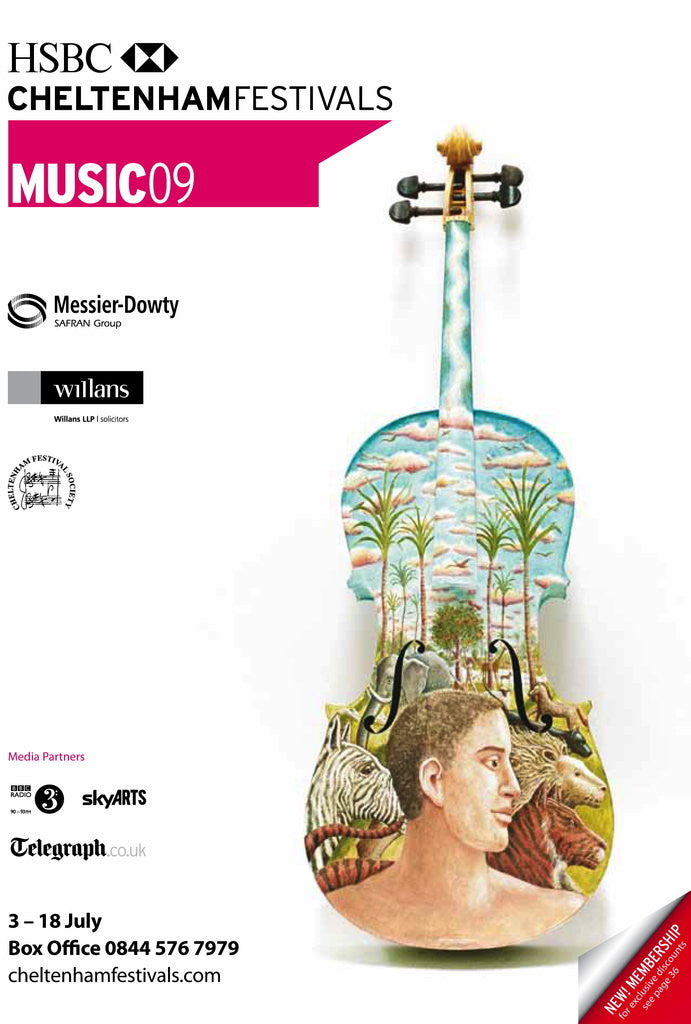 Detail of 2009 Cheltenham Music Festival Programme Cover by Cheltenham Festivals