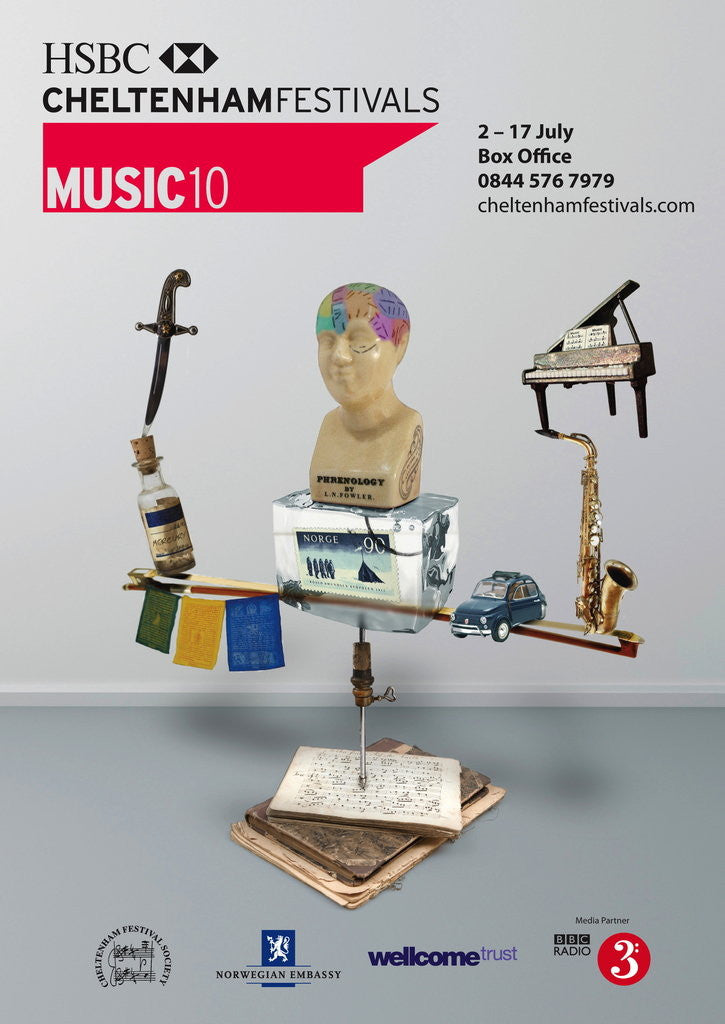 Detail of 2010 Cheltenham Music Festival Programme Cover by Cheltenham Festivals