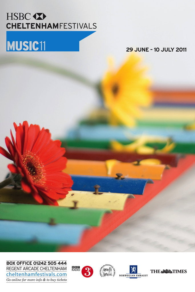 Detail of 2011 Cheltenham Music Festival Programme Cover by Cheltenham Festivals