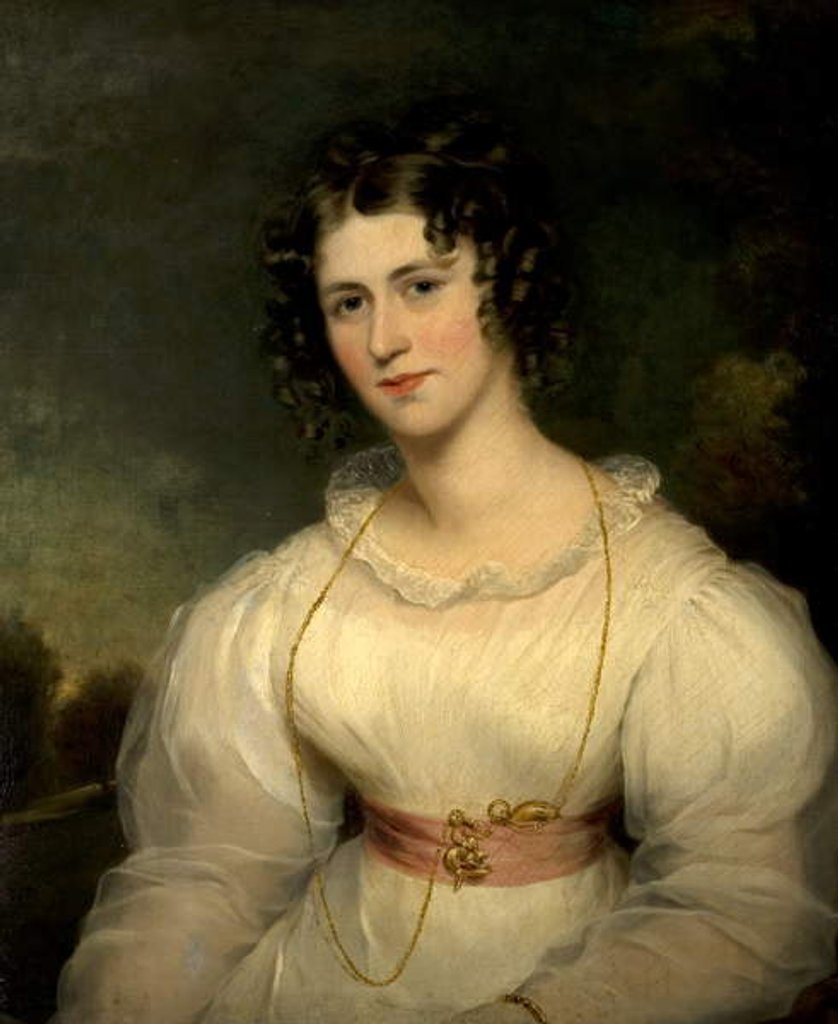 Detail of Miss Elizabeth Hoare, 1826 by Thomas Barber
