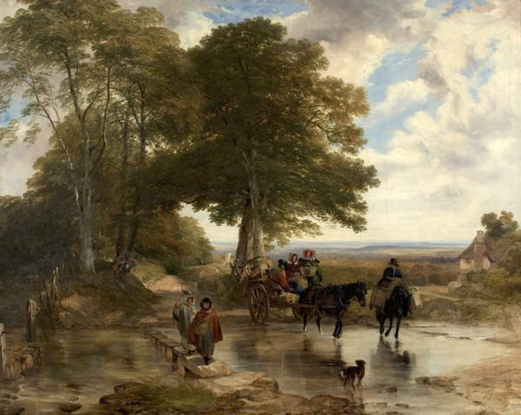 Detail of Market Cart at a Brook, 1845 by Frederick Richard Lee