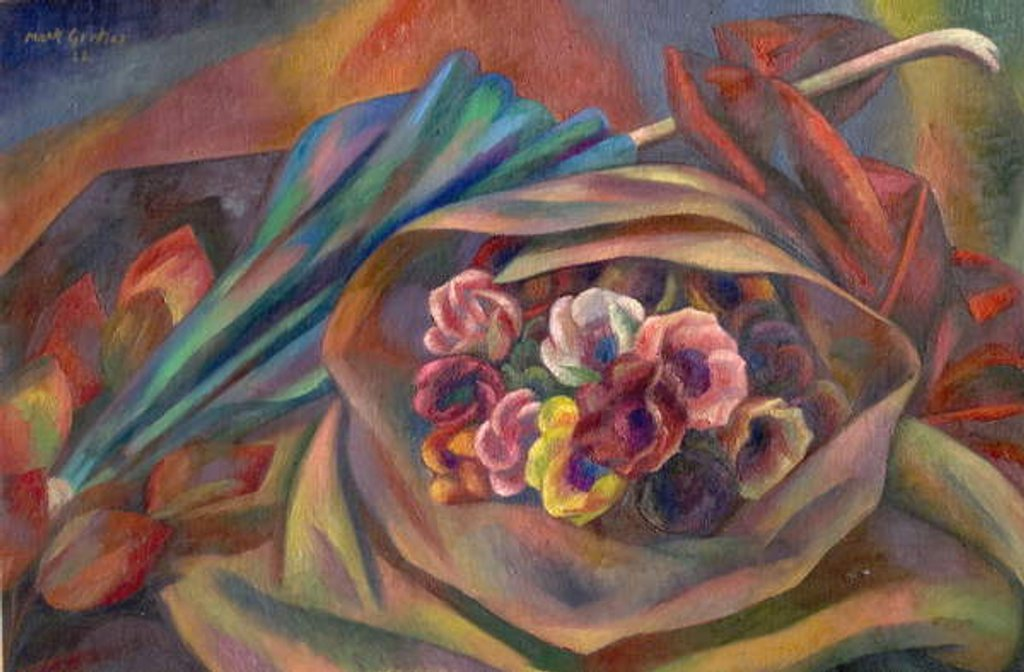 Detail of Bouquet and Sunshade by Mark Gertler