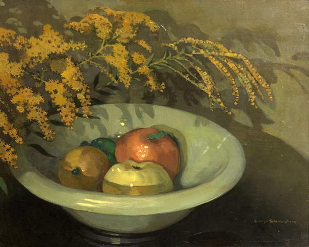 Detail of Fruit in a Jade Bowl by George Sheringham