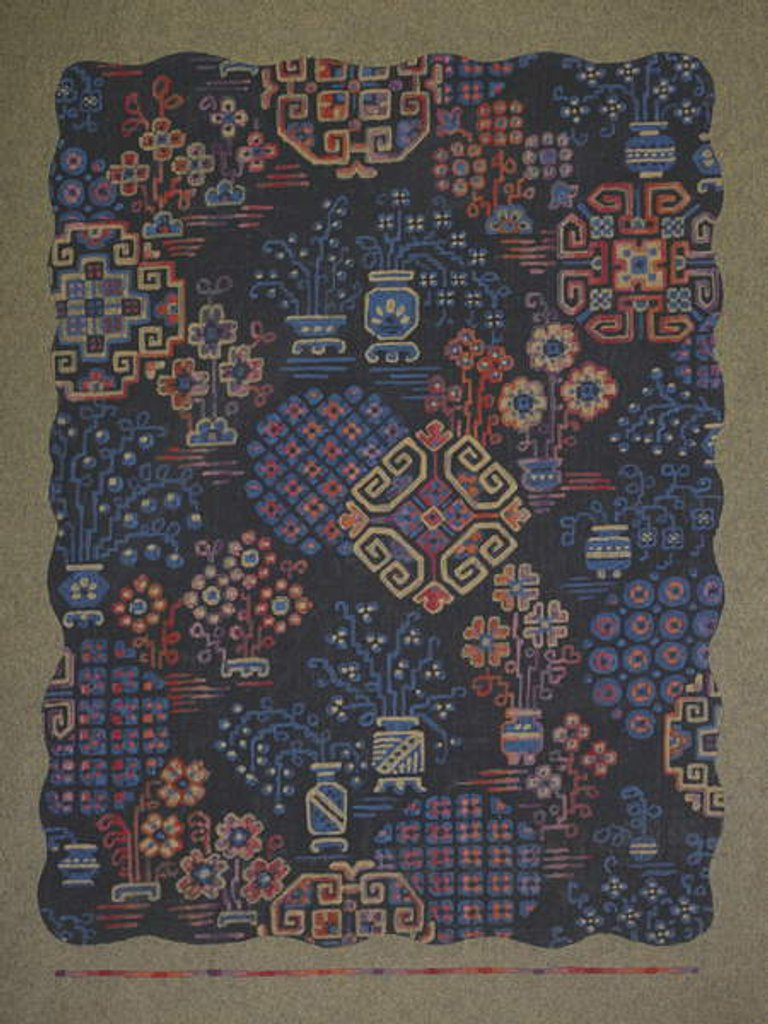 Detail of Carpet design by English School