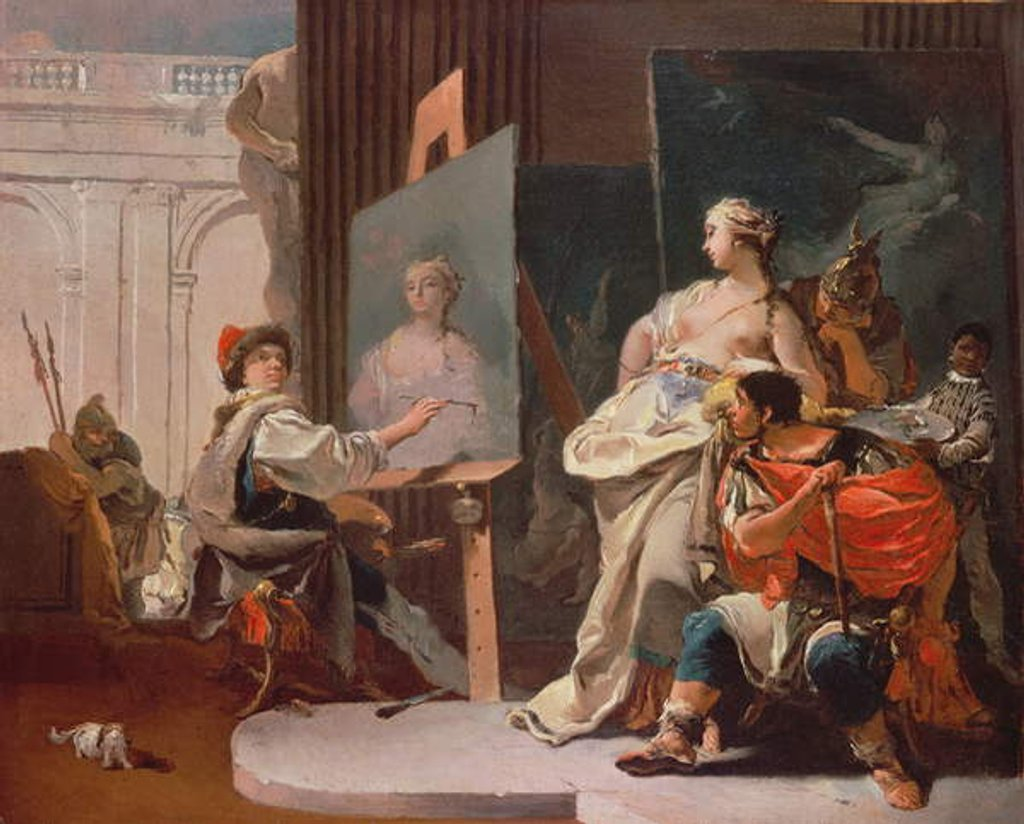 Detail of Alexander and Campaspe in the Studio of Apelles by Giovanni Battista Tiepolo