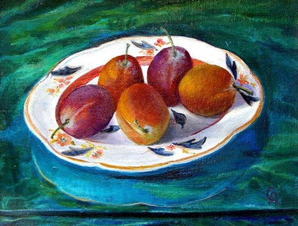 Detail of Fruit on a Staffordshire Dish by Cristiana Angelini