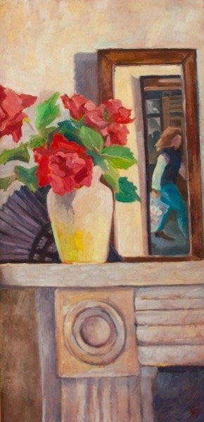 Detail of Red Roses by Cristiana Angelini