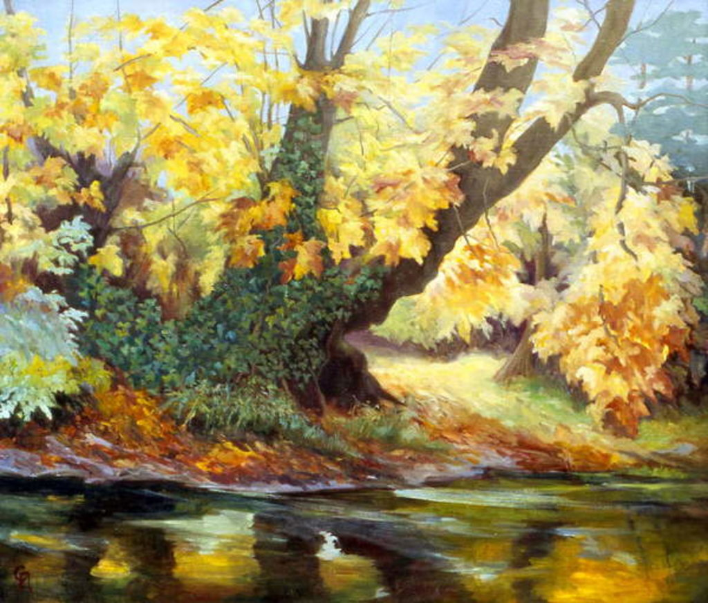 Detail of Autumn on the Darenth by Cristiana Angelini