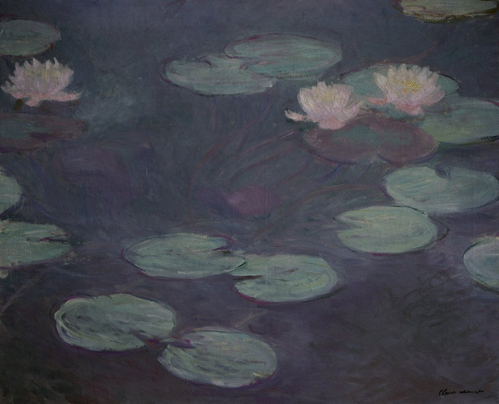 Detail of Pink Water Lilies by Claude Monet