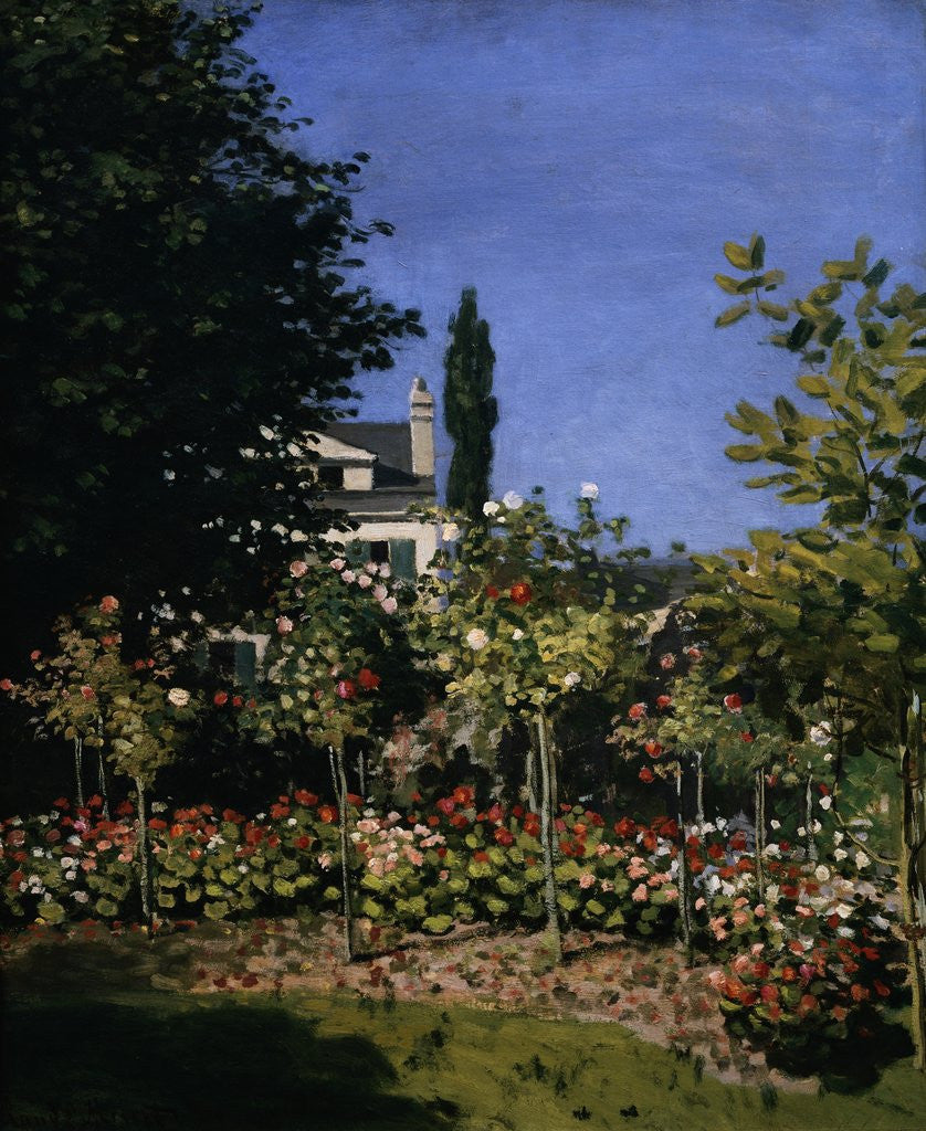 Detail of Garden in Bloom by Claude Monet