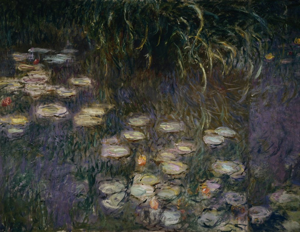 Detail of Detail of Waterlilies from The Morning by Claude Monet
