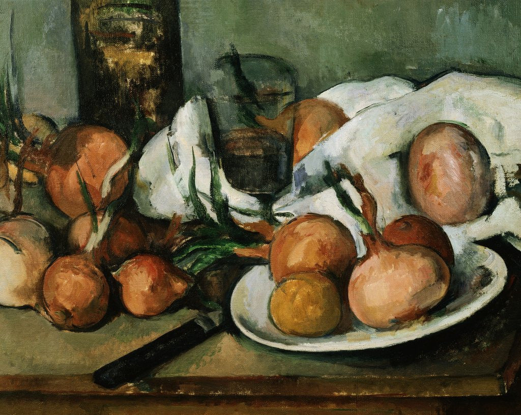 Detail of Detail of Still Life with Onions by Paul Cezanne