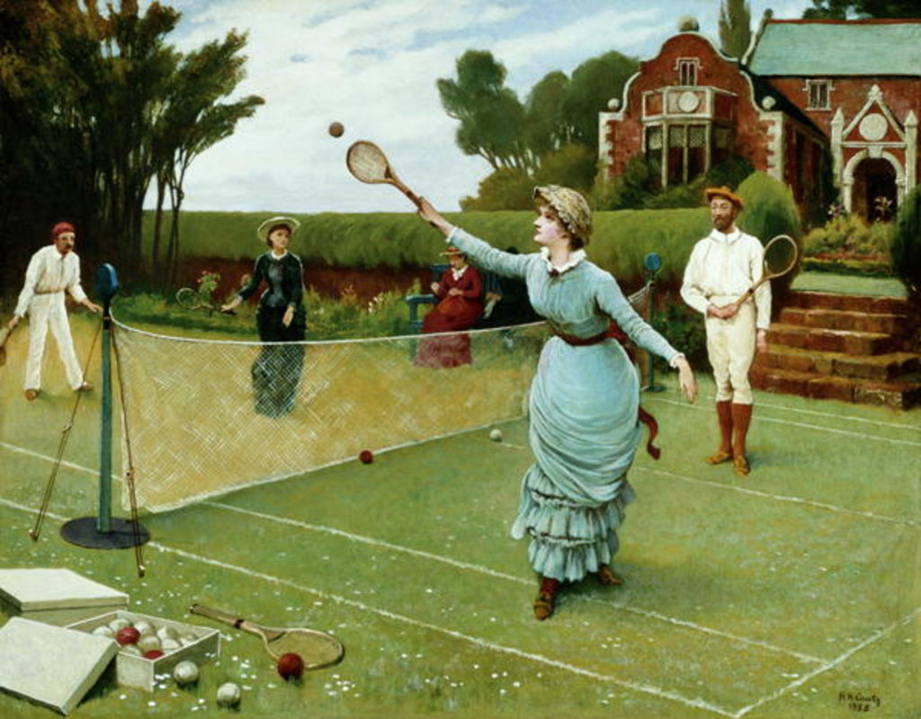 Detail of Tennis Players, 1885 by Horace Henry Cauty