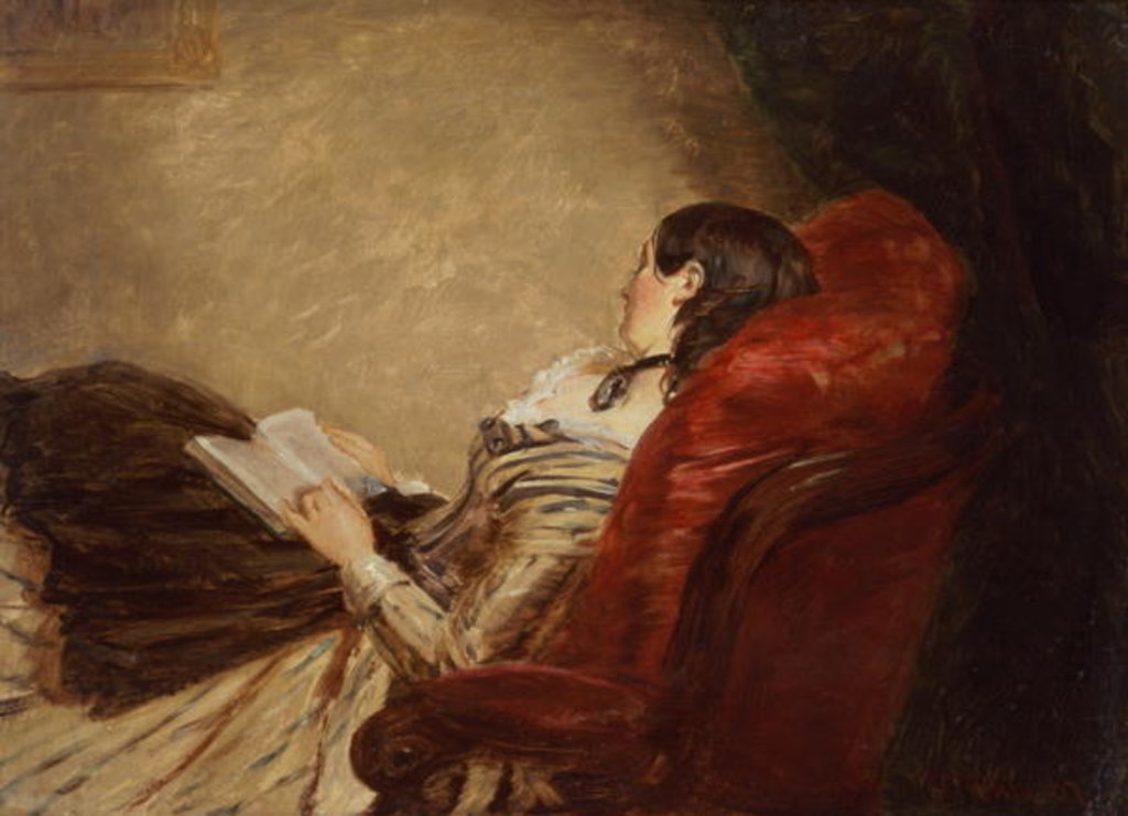 Detail of Sketch of the Artist's Wife Asleep in a Chair, 1867 by William Powell Frith