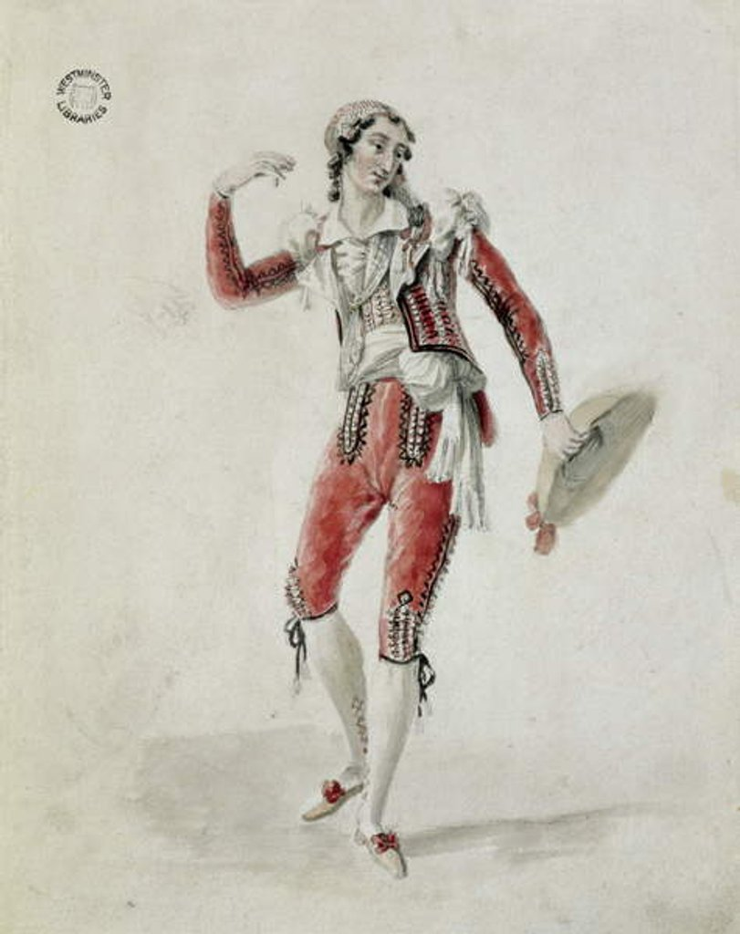 Detail of De Begnis, of the King's Theatre, as Figaro in The Marriage of Figaro, 1823 by Maxim Gauci