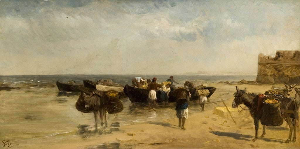 Detail of Fruit Boats on the Mediterranean by Richard Beavis
