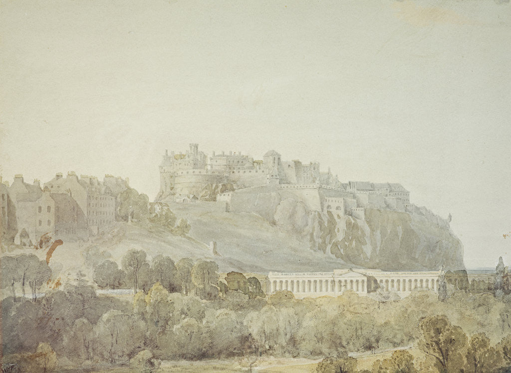 Detail of Edinburgh Castle and the Proposed National Gallery of Scotland by William Henry Playfair